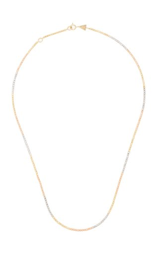 14K Yellow, Rose, and White Gold Chain Necklace