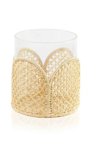 Set-Of-Four Raffia-Lined Small Glasses