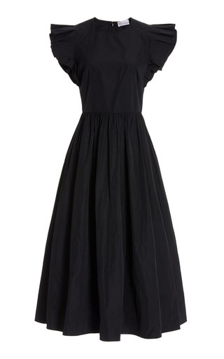 Poplin Shift Midi Dress
