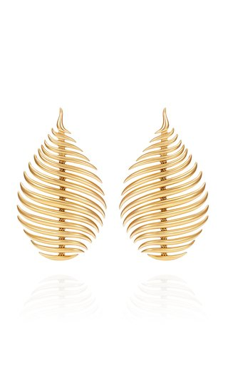 Flame 18K Yellow Gold Earrings