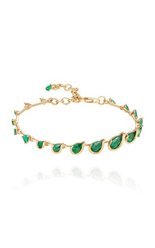 Flicker 18K Yellow Gold Emerald Bracelet