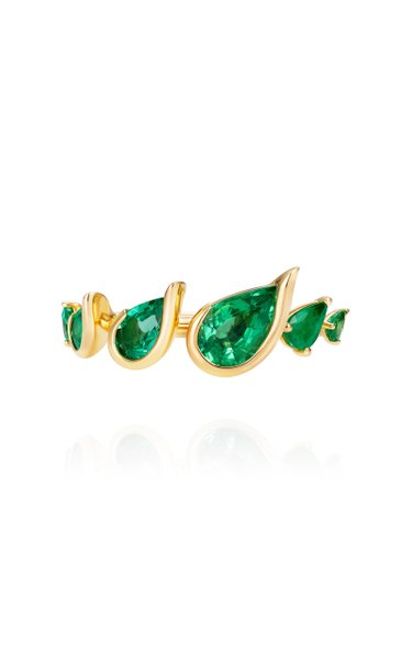Flicker 18K Yellow Gold Emerald Ring