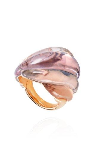 Gleam 18K Rose Gold Quartz, Amethyst Ring