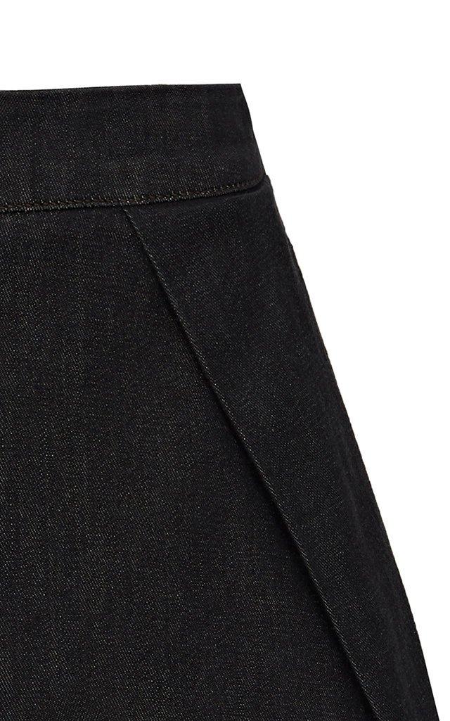 Bardot Pleated Denim Shorts