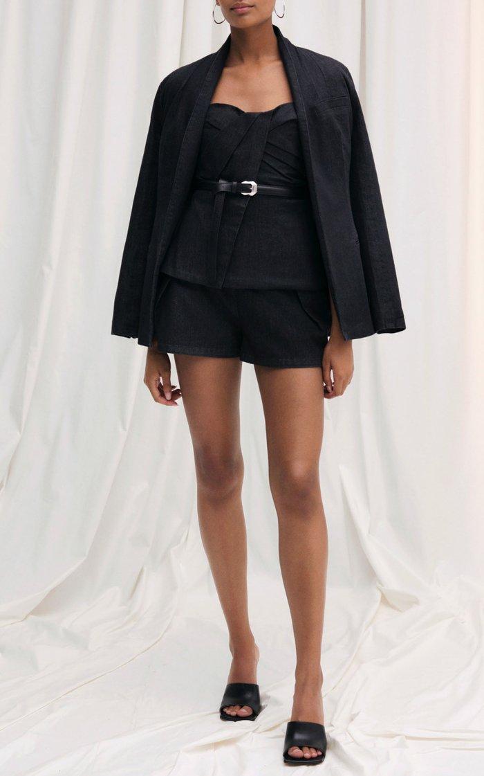 Heather Denim Kimono Jacket