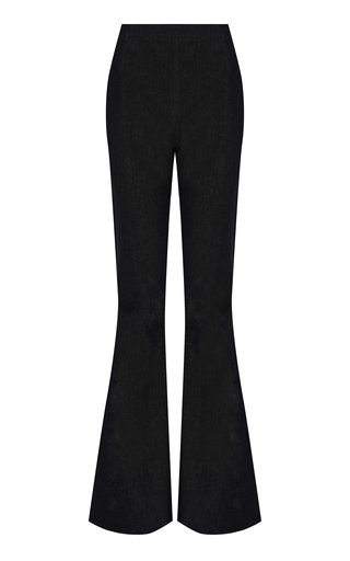 Halluana Denim Flared-Leg Pants