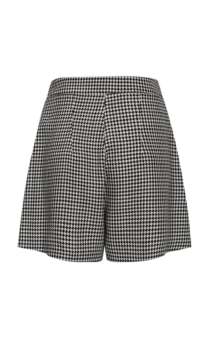 Bardot Pleated Houndstooth Shorts
