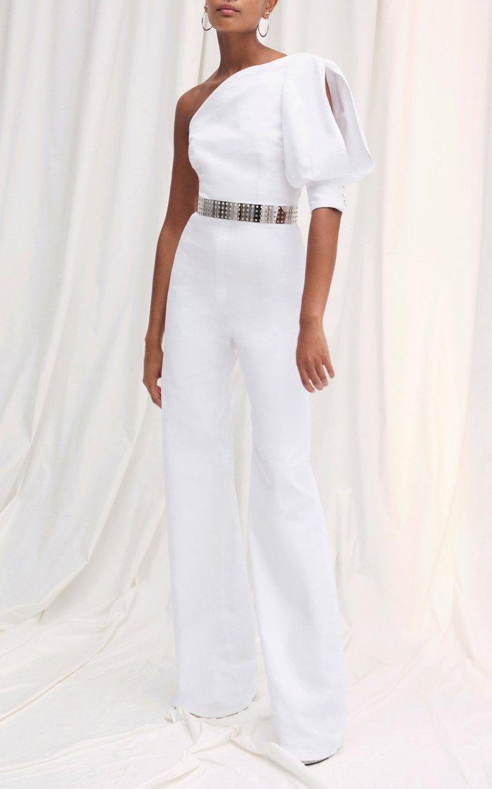 Gia One-Shoulder Wide-Leg Jumpsuit