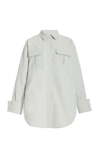 Oversized Crepe Shirt