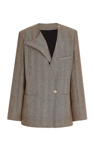 Herringbone Linen-Cotton Blazer