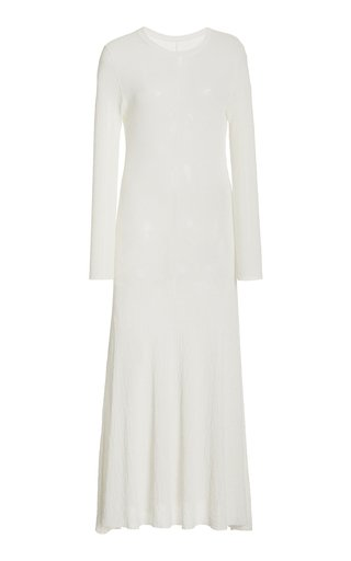 Crinkled Knit Maxi Dress