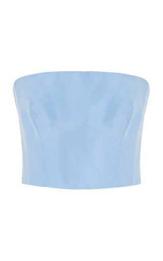 Strapless Silk Taffeta Bandeau Top
