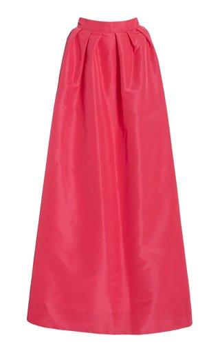 Pleated Silk Taffeta Evening Skirt