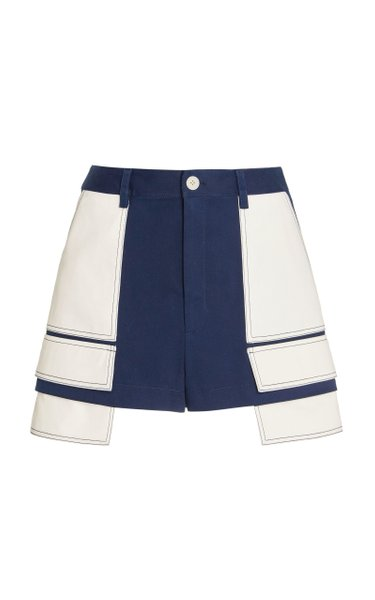 Extended Pocket Cotton-Twill Shorts