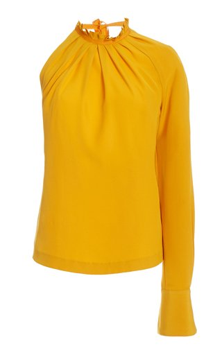 Scooped Back Crepe Top