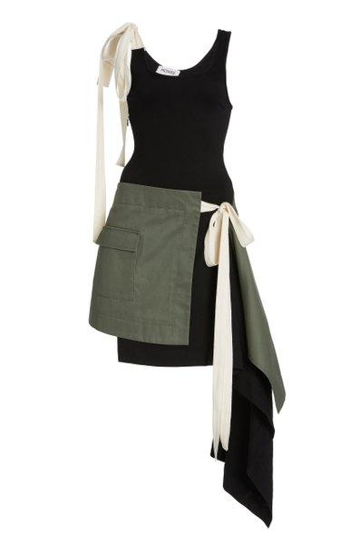 T-Skirt Draped Jersey Tank Dress