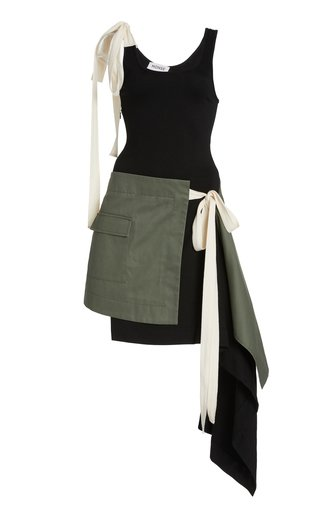 T-Skirt Draped Jersey Tank Dress