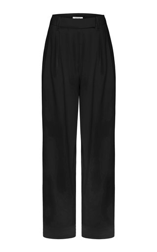 Cotton-Blend Tailored Trousers