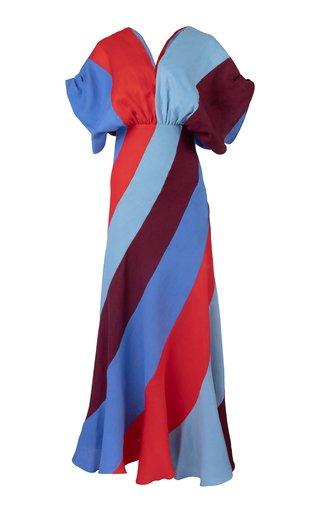 Garnet Striped Linen Dress