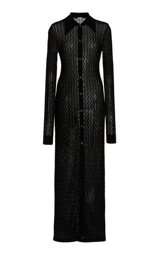 June Pointelle-Knit Maxi Sweater Dress