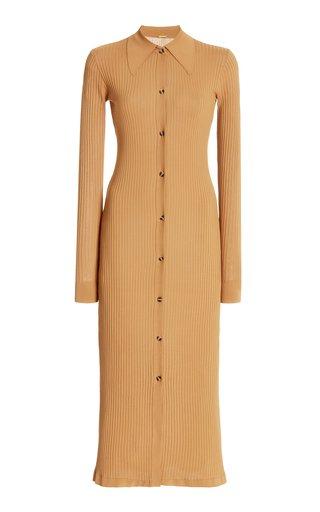 Ella Ribbed-Knit Midi Sweater Dress