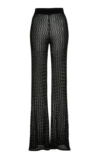 Sophia Pointelle-Knit Flared Pants