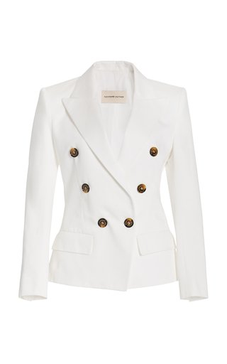 Stretch-Crepe Double-Breasted Blazer