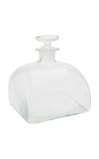 English Cut Glass Square  Decanter With Stopper