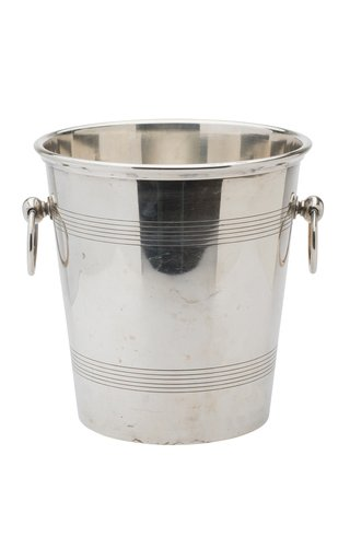 French Silver Plated Art Deco Champagne Cooler