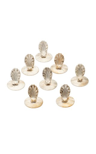 Christofle Silverplated Place Card Holders, Set Of Eight