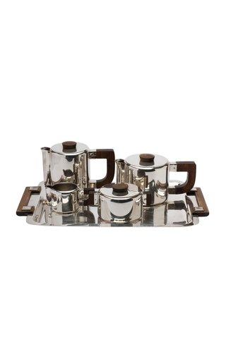 Christofle Luc Lanel Art Deco Silverplated Coffee And Tea Set