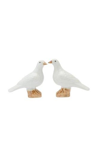 Miniature Porcelain Doves, Pair
