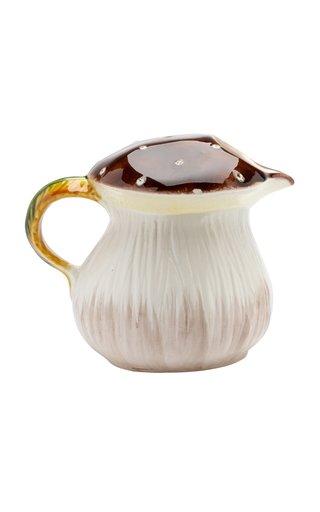 Italian Glazed Pitcher In The Form Of A Mushroom
