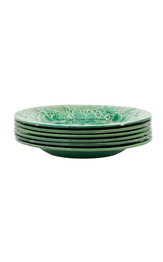 Franch Majolica Luncheon Plates, Set Of Six