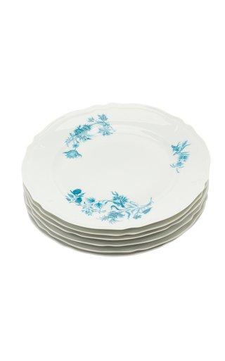 Giraud Limoges Porcelain Dinner Plates, Set Of Six