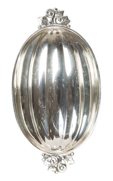 Tiffany And Co Sterling Silver Melon Form Shallow Bowl