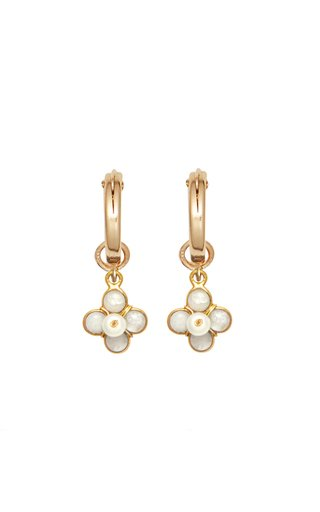 Ginny 24k Gold-Plated and Freshwater Pearl Earrings