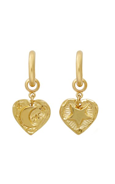 Goodnight Moon 24k Gold-Plated Hoops