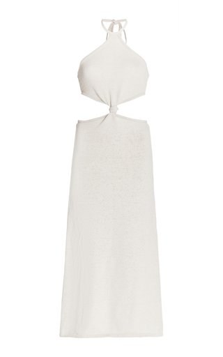 Cameron Cutout Knit Cotton-Blend Midi Dress