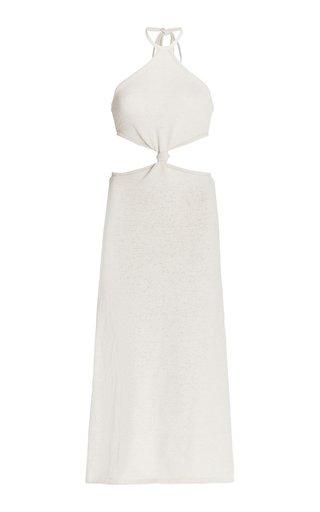 Cameron Cutout Knit Cotton-Blend Midi Dress