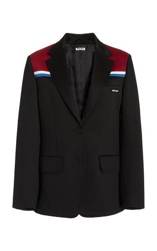 Notched Collar Fleece Blazer