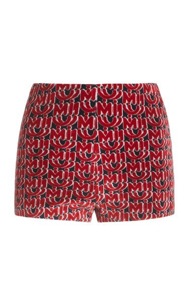 Chenille Monogrammed Cady Shorts