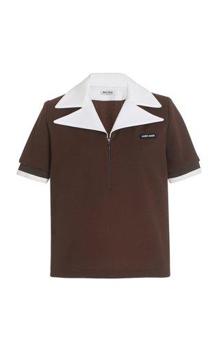 Half-Zip Tech Jersey Polo Top