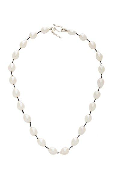 Teardrop Pearl Silver Collar