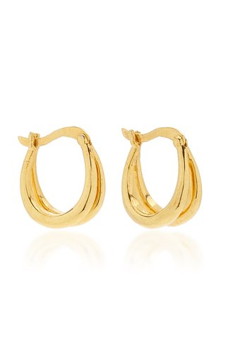 18k Gold Vermeil Double Francois Hoops
