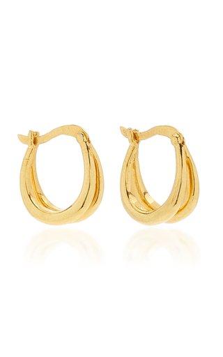 18k Gold Vermeil Double Francois Hoops
