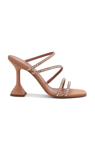 Naima Crystal-Embellished Satin Sandals