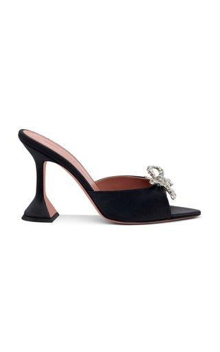 Rosie Crystal-Embellished Satin Sandals
