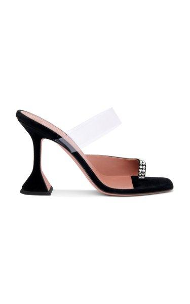 Paloma Crystal-Embellished Suede Sandals
