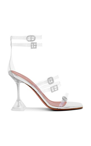 Robyn Buckle-Embellished PVC Sandals